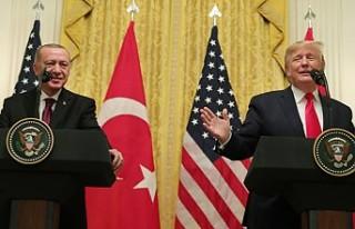 """Trump: """"Erdoğan ile çok harika ve verimli bir..."""