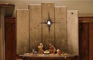 Banksy'den, İsa'nın doğumunu yorumlayan...
