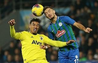Fenerbahçe, Rize'de 2 golle 3 puanı aldı