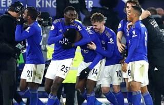 Leicester City son dakikada galibiyete uzandı