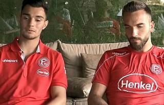 Fortuna Düsseldorflu Kaan Ayhan ve Kenan Karaman'dan...