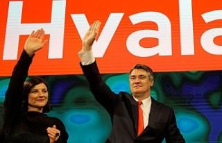 Hırvatistan'ın yeni cumhurbaşkanı Zoran Milanovic...