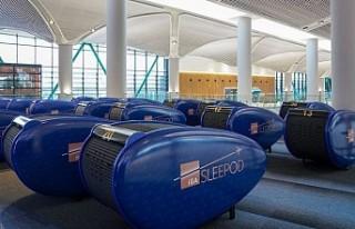 İstanbul Havalimanı'nda uyku kabini hizmeti...