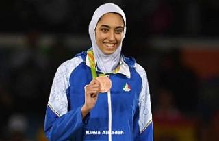 Olimpiyatlarda madalya kazanan tek kadın sporcu İran'ı...