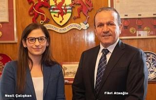 Ataoğlu, Enfield belediye Başkanı Çalışkan'la...