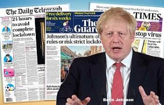 İngiltere basını halkın koronavirüs salgınına...