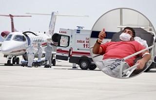 Türk hastanın ambulans uçakla getirilmesi İsveç...