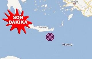 Akdeniz'de 5,6 Büyüklüğünde Deprem