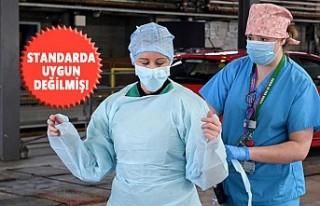 İngiltere, Türkiye'den Aldığı Koruyucu Önlükleri...