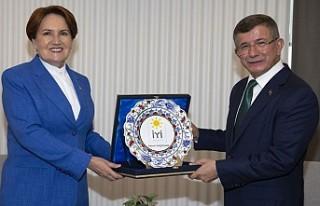 Akşener'den Davutoğlu'na Ziyaret