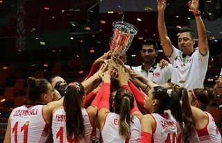 Kız Voleybol Milli Takımı'nda Avrupa Şampiyonluğu...