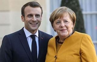"""Macron ve Merkel'den """"Doğu Akdeniz""""..."""
