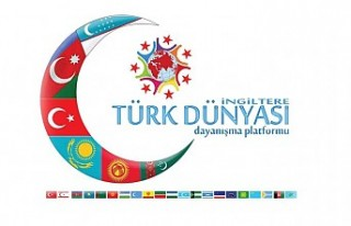 Azerbaycan'a, İngiltere Türk Dünyası Dayanışma...