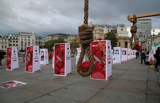 İran'daki idamlar Londra'da protesto edildi