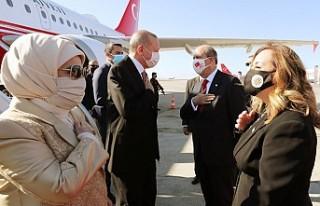 Cumhurbaşkanı Erdoğan KKTC'de