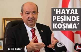 Tatar'dan Rum Lider Anastasiadis'e Mesaj...