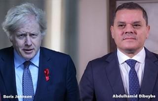 İngiltere Başbakanı Johnson, Libya Başbakanı...