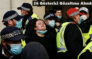 Londra'da, Polise Yetki Veren Tasarıyı Protestoda...