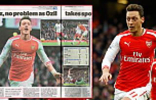 Mesut Özil gazete manşetlerinden inmiyor