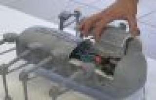 Örümcek robot ile mayın temizliği