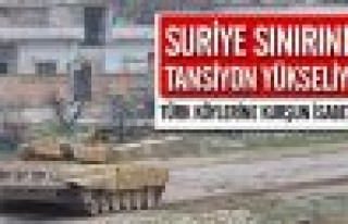 Türk köylerine kurşun isabet etti