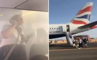 Londra'dan Valencia'ya giden uçak kabini dumanla dolunca acil iniş yaptı