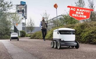 İngiltere'de Siparişlerin Tesliminde Robot Dönemi