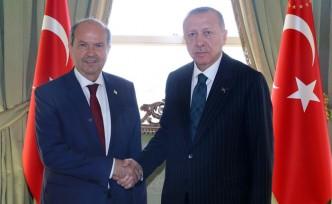 KKTC Başbakanı Tatar, Erdoğan ile Bir Araya Geldi