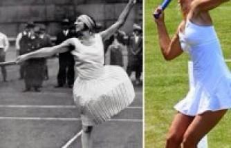 Uzun Etekler ve Kösele Ayakkabılarla Tenis