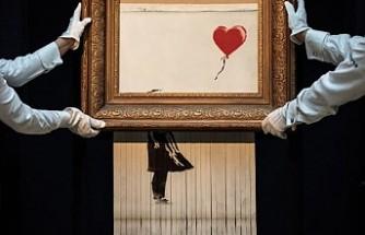 Banksy: Kendini parçalayan resim planladığımız gibi olmadı