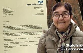 Beş kişiye hayat veren Sakine Tezerdi için NHS'ten ailesine Teşekkür mektubu