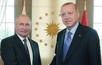 Erdoğan-Putin ile bir araya geldi