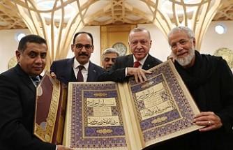 Erdoğan, Camridge camisinin açılışını yaptı
