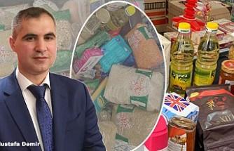Londra'da Türk Firmasından İhtiyaç Sahiplerine Gıda Desteği