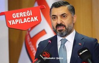 RTÜK Başkanı Şahin'den 'Sevda Noyan Açıklaması