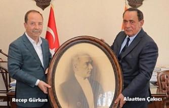 Çakıcı'dan Edirne Belediye Başkanı Gürkan'a Ziyaret
