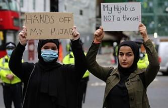 Fransa ve Macron'a, Londra'da Protesto