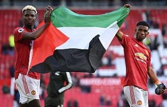 Manchester United'lı Pogba Ve Diallo, Filistin Bayrağı Açtı
