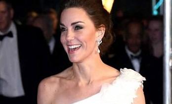 Kate Middleton, kıyafetiyle BAFTA ödül törenine damga vurdu
