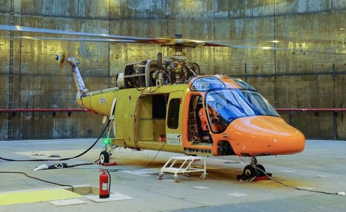 Özgün helikopterin palleri dönmeye başladı