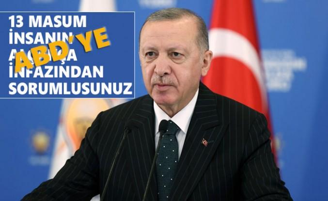 """Erdoğan'dan ABD'ye Sert """"Terörü Destekleme"""" Tepkisi"""