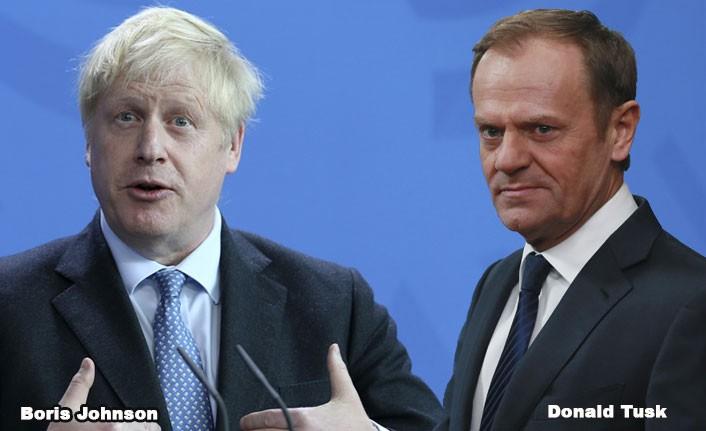 Boris Johnson, Tusk'u kendi sözüyle vurdu!